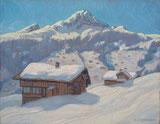 Bei Grindelwald mit Lauberhorn und Tschuggen
