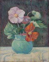 Stilleben mit grüner Vase