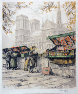 Paris Künstlermarkt an der Seine
