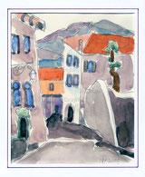 Gasse in Sorono, Italien