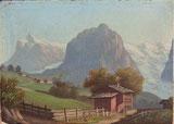 Bei Grindelwald mit Wetterhorn und Mettenberg