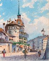 Szene in Bern mit Zytgloggeturm