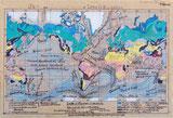 Von Hand gezeichnete Weltkarte