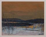 Winterstimmung, Gefrorene Uferlandschaft