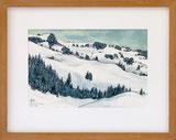 Winterlandschaft bei Zweisimmen,1984