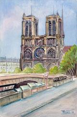 Paris. Notre Dame et Quai St. Michel
