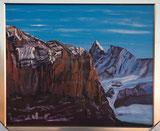 Finsteraarhorn vom Waldspitz (Grindelwald) aus gesehen.