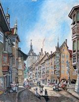 Schaffhausen Blick in die Oberstadt