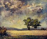 Kornfeld und Wolkenstimmung