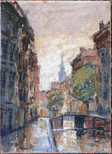 Grachtenlandschaft (Amsterdam?)