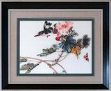 Vogel und Blumen