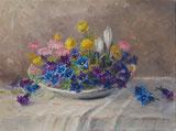 Alpenblumen in Schale