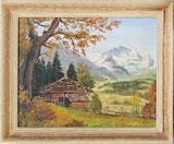 Alphütte mit Jungfrau