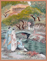 Geisha's in Japanischen Garten