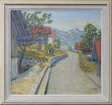 Eine Dorfstrasse (ev oberhalb Sarnersee)