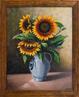 Sonnenblumen im Steinkrug