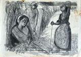 Drei Landfrauen bei der Feldarbeit