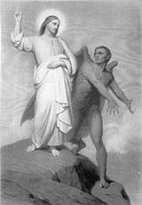 Jesus wird vom Teufel versucht (Versuchung Jesu)