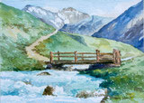 Holzbrücke auf der Alp
