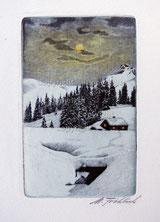 Winterlandschaft im Mondlicht