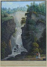Nr. 2183 Vue de la Cascade du Bonnant. Près les Bains de St. Gervais.