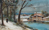 Winterlandschaft mit Person