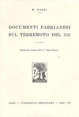 Documenti fabrianesi sul terremoto del 1714