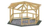 pavillons bauplan holz. Black Bedroom Furniture Sets. Home Design Ideas