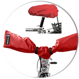Connect Handlebar + Seat Cover 2.0 (rot & schwarz)