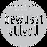 Runder Button mit dem Polydual Branding Slogan bewusst stilvoll