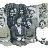 Con las Cruzadas en el día de sus Votos Temporales, 2 de octubre de 1942
