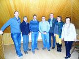 Ingo Wehrkamp, Jörg Broll-Bickhardt, Rainer Metko, Frank Rottstegge, Manfred Rischkopf, Karin Sandersfeld und Martina Böttcher (v.l.)