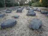 築城時の礎石(伊豆石)