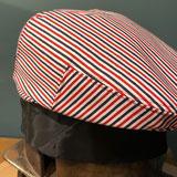 Flatcap Schieberkappe Männerkappe blau rot weiß