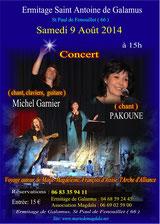 Concert à Saint Antoine de Galamus, 9 août 2014, cliquez pour agrandir