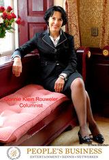 Gonnie Klein Rouweler, Columnist Business Ontmoet Business