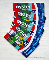 Unsere vier Oyster-Cards