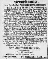 Sammlungsverbot,  Göttinger Zeitung  vom 2.3.1933. Foto: Stadtarchiv Göttingen