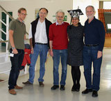 Flavia Koch after the defense of her thesis on May 14, 2014 with the examiners Prof. D. Hartl, Prof. R. Reuter, Prof. H. Rammensee and Prof. G. Pawelec