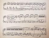 Фрагмент транскрипции, Будильник, Куперен, старинные ноты