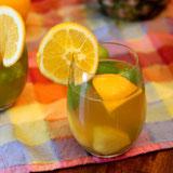 Tropical Green Tea Sangria Mocktail