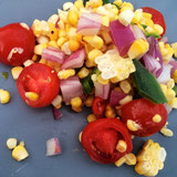 Honey Lime Grilled Corn Salad