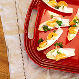 Endive with Goat Cheese, Mandarin Orange, and Mint