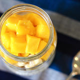 Mango Overnight Oats in a Jar