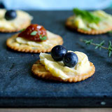 Crackers with Flavored Buttery Spread