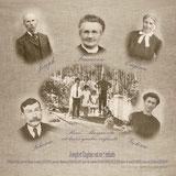 montage de photo ancienne pêle-mêle en virage sépia
