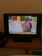 ファミリールームのテレビ
