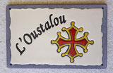 Panneau croix Basque en lave émaillée