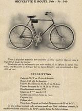 Katalogblatt von 1914 mit dem Modell E Route