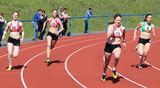 200 Meter-Lauf mit Sanna, Schmidt, Mockenhaupt und Simon (Bad Ems)